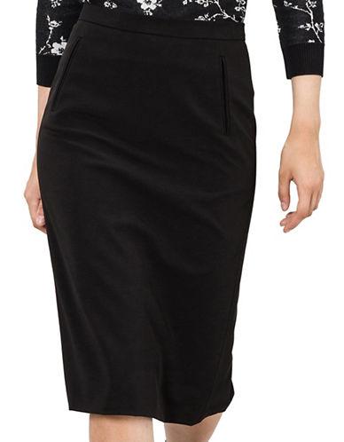 Agnès B. Straight Knee-Length Skirt-BLACK-6