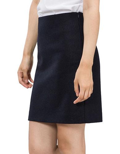 Agnès B. Erin Wool Pencil Skirt-BLUE-10