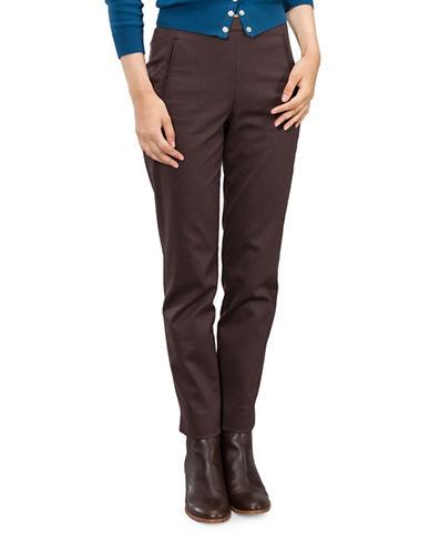 Agnès B. Regate Skinny Trousers-BROWN-8