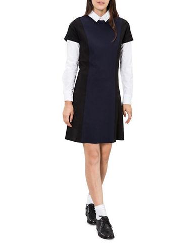 Agnès B. Oppo Kyoto A-line Dress-BLUE-1
