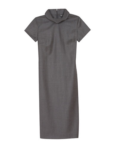 Agnès B. Grey Aela Wool Dress-GREY-6