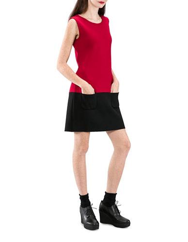 Agnès B. Napolitain Wool Shift Dress-RED-3