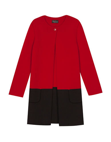 Agnès B. Wool Napolitain Coat-RED-1