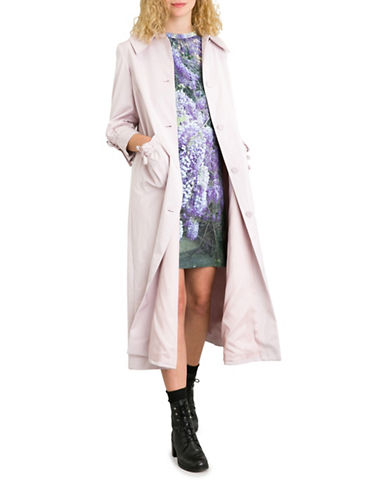 Agnès B. Bow Satin Coat-PINK-10