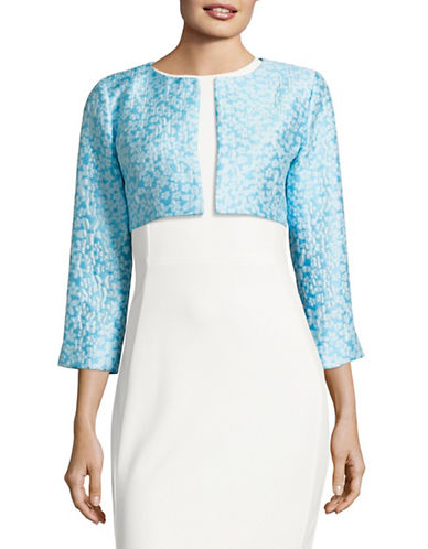 Agnès B. Structured Bolero Jacket-BLUE-6