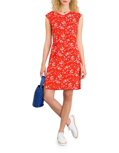 Agnès B. Floral Print Dress-RED FLORAL-12