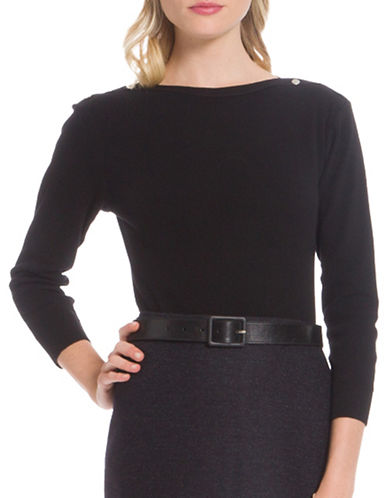 Agnès B. Badiane Combed Cotton Pullover-BLACK-3