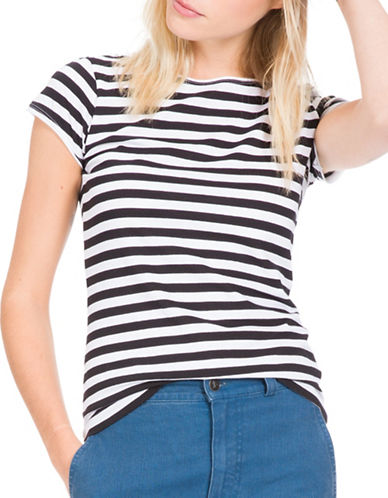 Agnès B. Striped T-Shirt-BLACK/WHITE-1