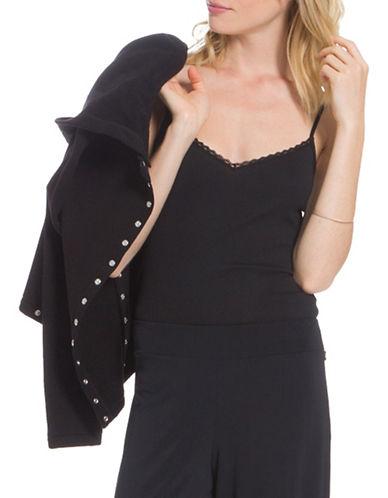 Agnès B. Clea Satin Strap Camisole-BLACK-3