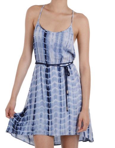 Molly Bracken Bondi Self-Tie Waist Dress-BLUE-Medium