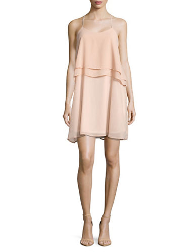 Molly Bracken Thin Strap Tiered Popover Dress-NUDE-Large
