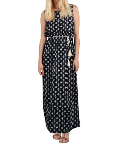 Molly Bracken Camilla Printed Sleeveless Dress-BLACK MULTI-Small/Medium