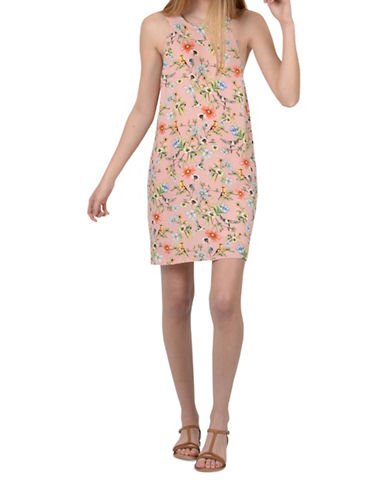 Molly Bracken Marie Floral Print Shift Dress-PINK MULTI-Large