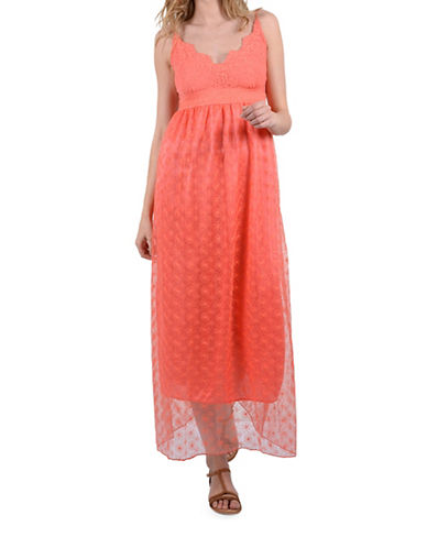 Molly Bracken Molly Lace Dress-CORAL-One Size