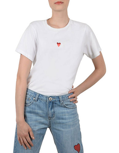 Molly Bracken Heart Cotton Tee-WHITE-Medium 90003076_WHITE_Medium