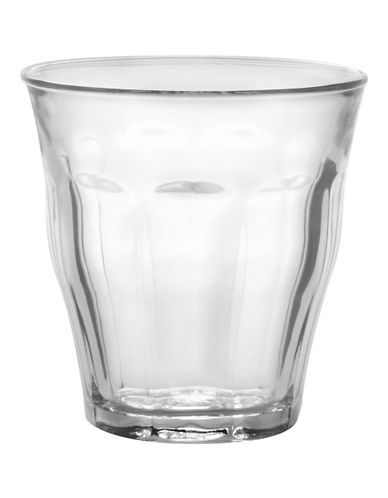 Duralex Set of 6 Picardie Tempered 250ml Tumblers-CLEAR-One Size