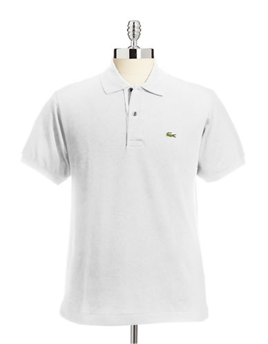Lacoste Classic-Fit Solid Cotton Polo-WHITE-3