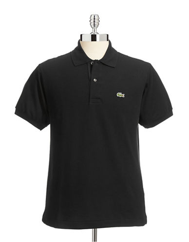 Lacoste Classic-Fit Solid Cotton Polo-BLACK-5