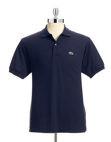 Lacoste Classic-Fit Solid Cotton Polo-NAVY-4