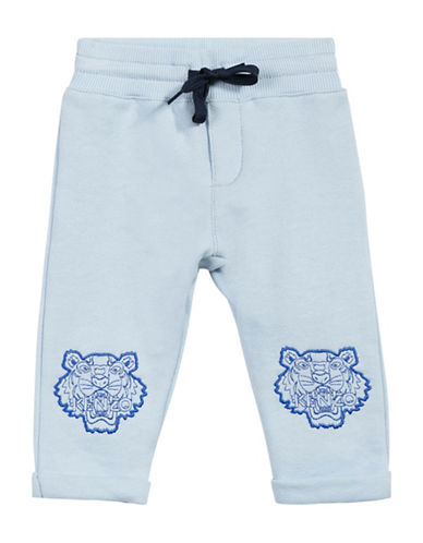 Kenzo Tiger Cotton Sweatpants-BLUE-6 Months