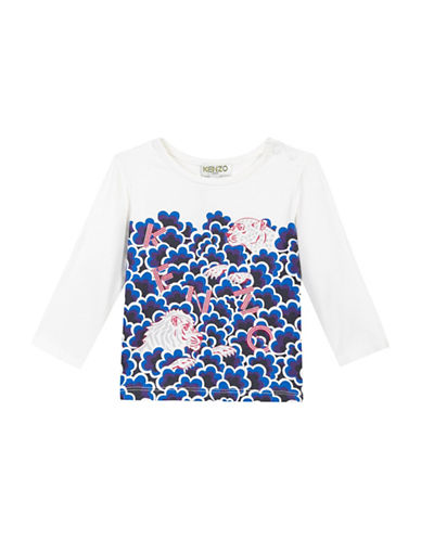 Kenzo Popcorn Graphic-Printed T-Shirt-WHITE-9 Months
