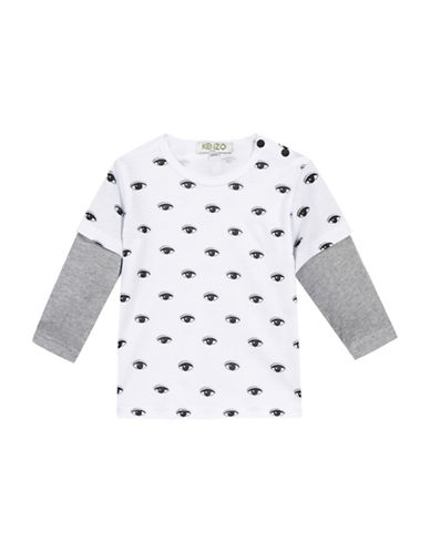 Kenzo Tiger Cotton Tee-WHITE-6 Months
