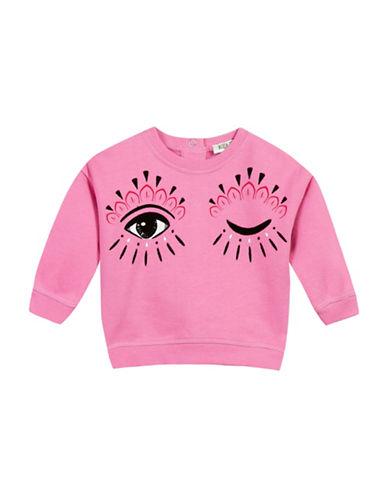Kenzo Eye Cotton Sweatshirt-PINK-24 Months