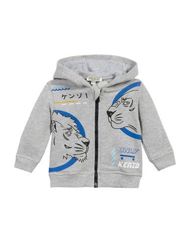 Kenzo Tiger Zip Hoodie-GREY-6 Months