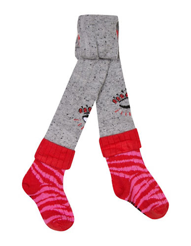 Kenzo Eye Knit Tights-GREY-9-12 Months