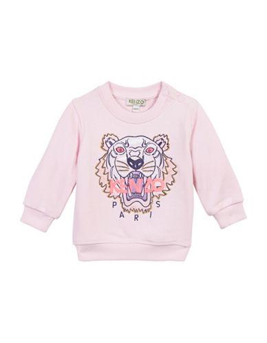 Kenzo Tiger Cotton Sweatshirt-PINK-24 Months