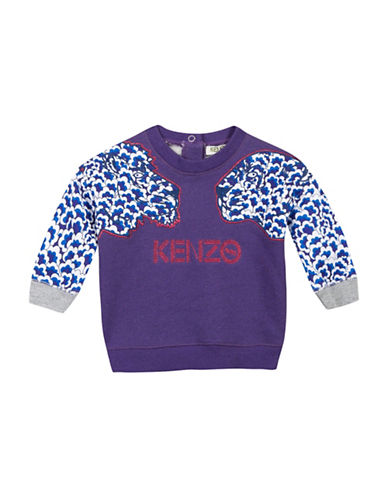 Kenzo Popcorn GraphicLong-Sleeve Tee-PURPLE-24 Months