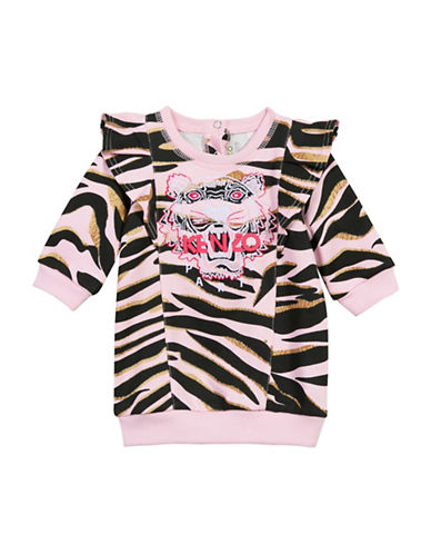 Kenzo Tiger Cotton Dress-PINK-18 Months