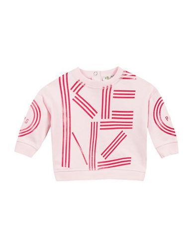 Kenzo Logo Cotton Sweatshirt-PINK-24 Months