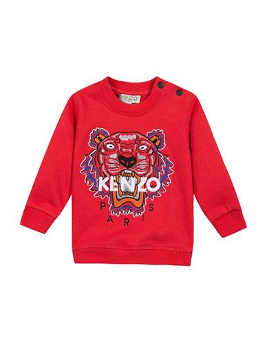 Kenzo Tiger Cotton Sweatshirt-RED-6 Months