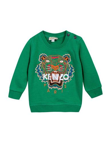 Kenzo Tiger Cotton Sweatshirt-GREEN-9 Months
