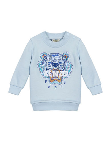 Kenzo Tiger Cotton Sweatshirt-BLUE-18 Months