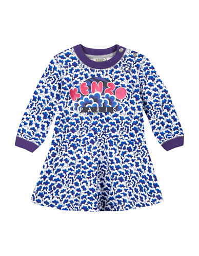 Kenzo Tiger Cotton Dress-WHITE-6 Months