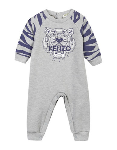 Kenzo Tiger Raglan Coverall-GREY-6 Months