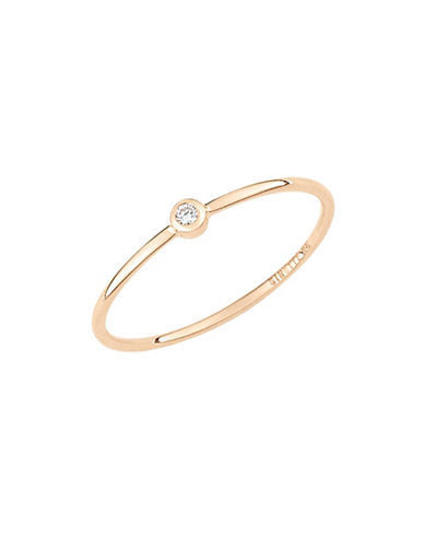 Ginette Ny Mini 18K Rose Gold and  0.20 Total Carat Weight Diamond Ring-ROSE GOLD-6