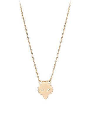 EAN 3602618971160 Ginette Ny 18K Rose Gold Wolf NecklaceROSE GOLD