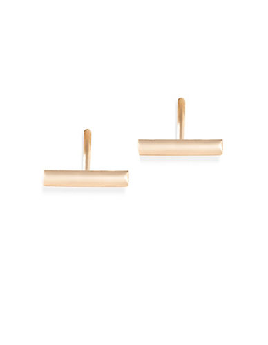 Ginette Ny 18K Rose Gold Bar Stud Earrings-ROSE GOLD-One Size