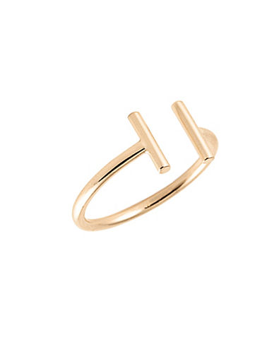 Ginette Ny 18K Rose Gold Open Bar Ring-ROSE GOLD-6