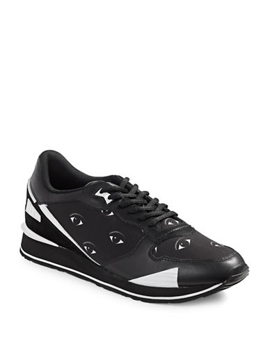 Kenzo Flying Logo Sneakers-BLACK-EU 40/US 7