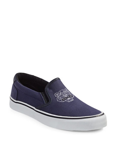 Kenzo Canvas Tiger Slip-Ons-BLUE-EU 40/US 7