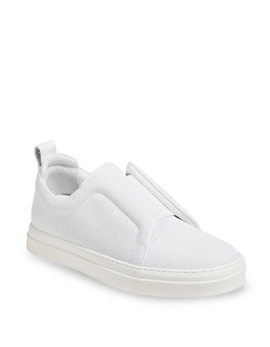 Pierre Hardy Perforated Leather Sneakers-WHITE-EUR 40/US 10