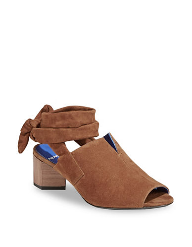 Pierre Hardy Raly Suede Sandals-BROWN-EUR 38/US 8
