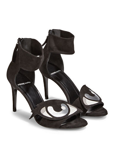 Pierre Hardy Oh Roy Leather Sandals-BLACK-EUR 39/US 9