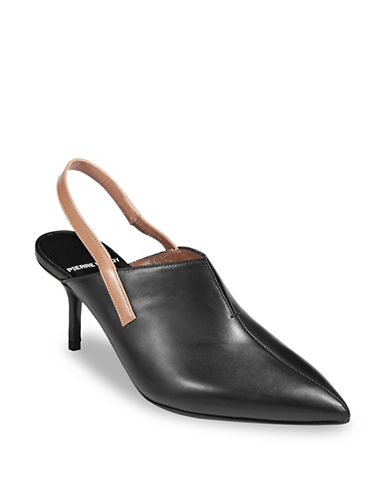 Pierre Hardy Raly Leather Slingback Pumps-BLACK-EUR 37.5/US 7.5