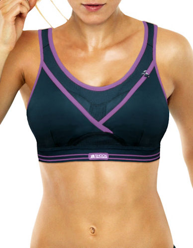 Shock Absorber Cutout Sports Bra-BLACK-32B