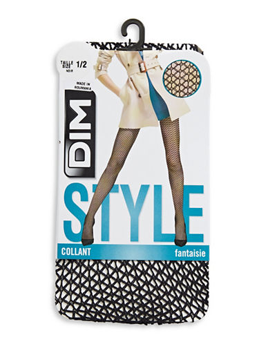 Dim Mesh Tights-BLACK-3/4